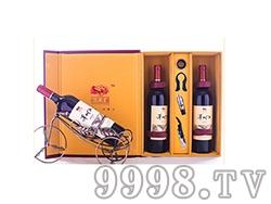 泽州红山楂干红酒双支礼盒