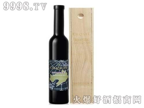 张裕贵富葡萄酒-木盒装-晚收甜葡萄酒375ml