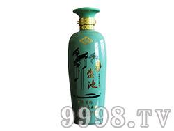 百年盛池酒绿瓶