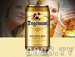 慕尼至尊精酿白啤酒11°330ml罐