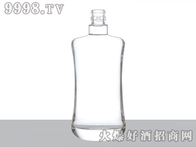 正华晶白玻璃瓶弧形ZH-J-097-500ml