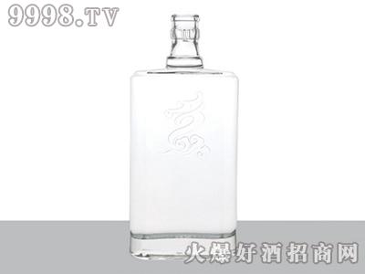 正华晶白玻璃瓶花纹ZH-J-123-500ml
