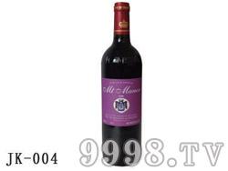 法国蒙图庄园干红葡萄酒750ml