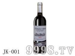 法国艾诺安城堡西拉干红葡萄酒