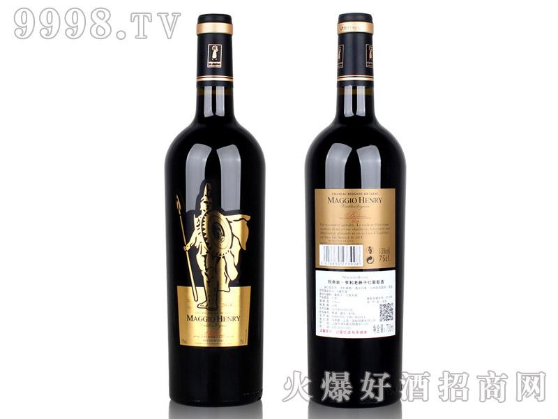 法国波尔多亨利老藤干红葡萄酒
