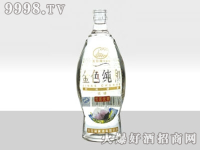 奥星高白玻璃瓶金色纯和酒AX-209 500ml