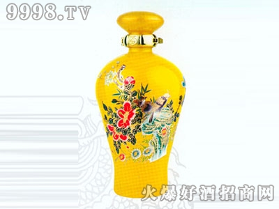 无锡喷涂彩瓶百花争艳酒RJ-CP-082