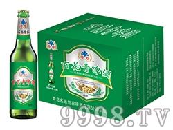 纯生百花青啤酒500ml