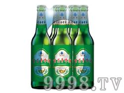 百花青啤酒瓶装塑包500ml