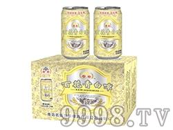 百花青白啤酒330ml