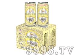 百花青白啤酒黄盒500ml