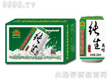崂金泉纯生风味啤酒320ml