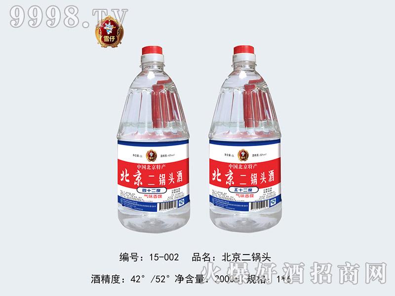 雪仔北京二锅头酒2000ml