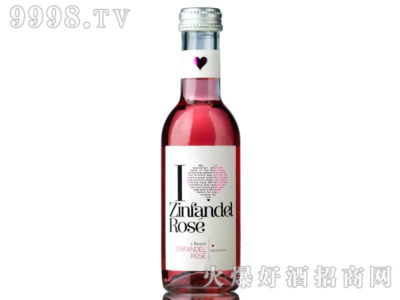 意大利爱嗨187ml仙粉黛桃红葡萄酒