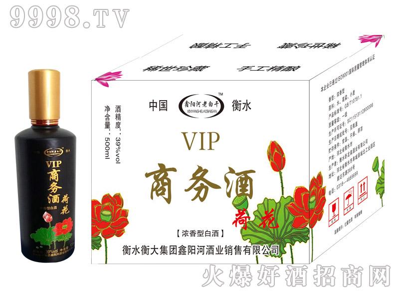 鑫阳河老白干荷花商务酒浓香型39度500ml×6