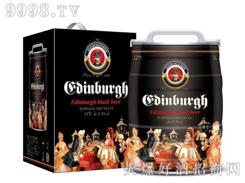 爱丁堡英国黑啤5L