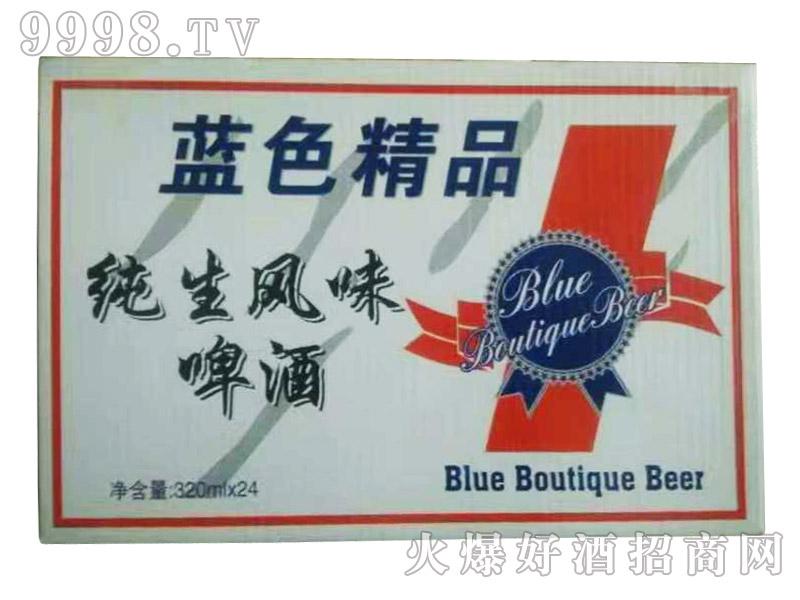 蓝色精品纯生风味啤酒