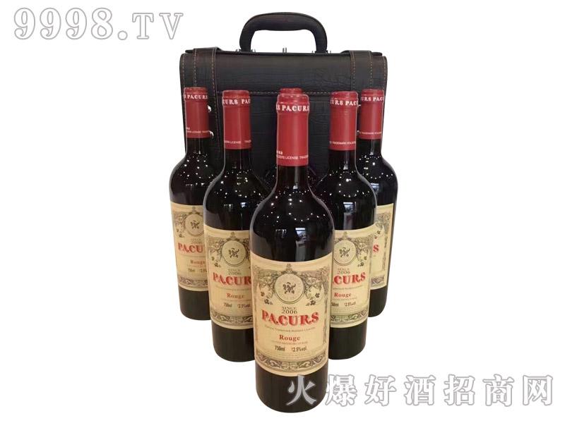 柏翠堡副牌干红葡萄酒2006(皮盒)
