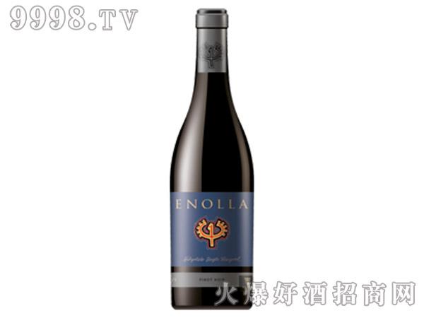 藏蓝色恩诺拉红葡萄酒