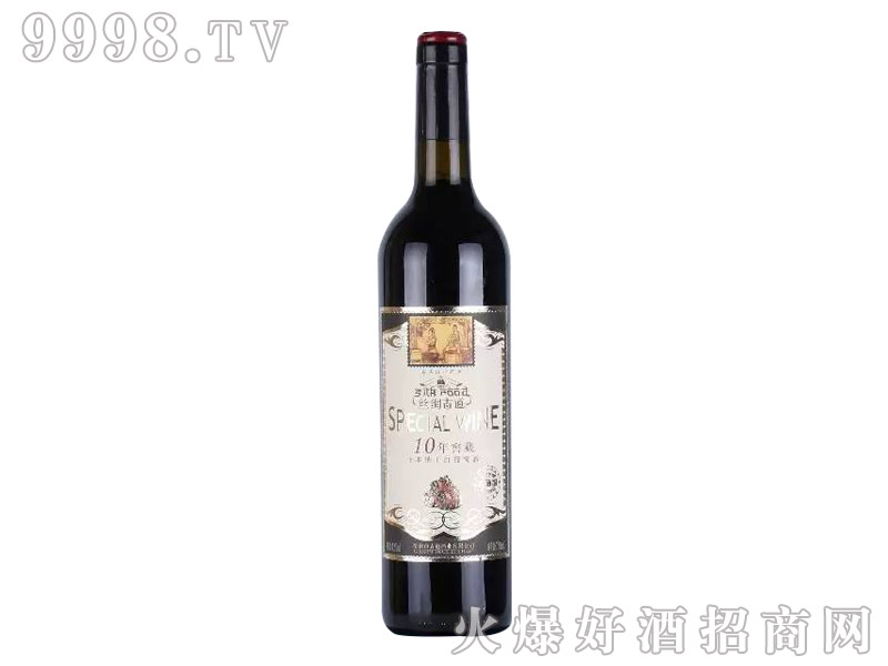 丝绸古道卡本纳十年干红葡萄酒
