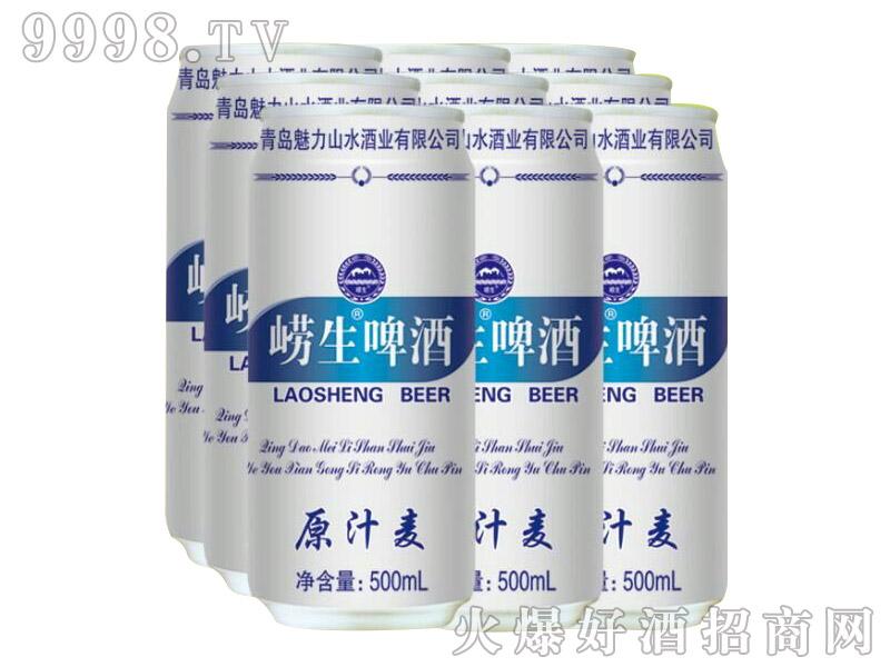 魅力山水崂生啤酒500mlx9塑包