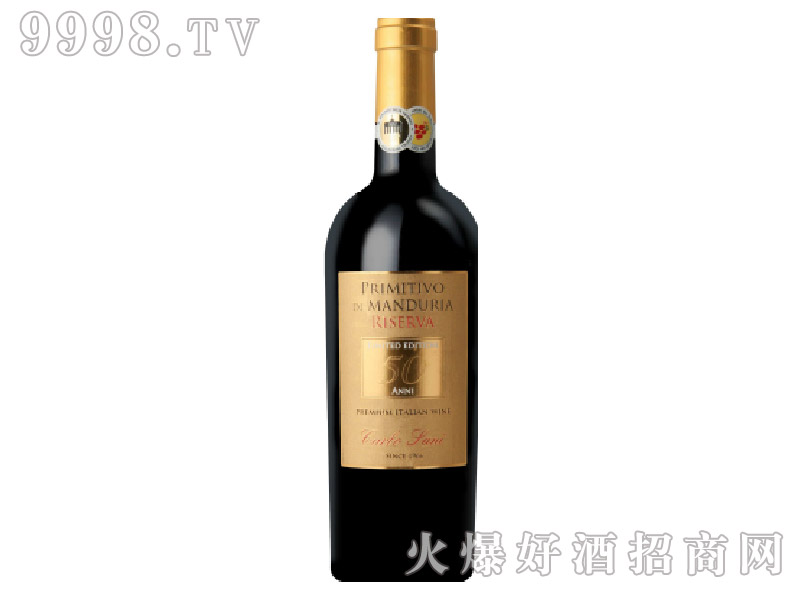 意大利金粉黛珍藏红葡萄酒