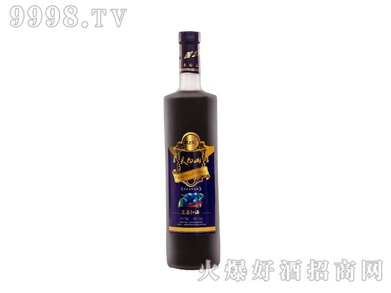 唯之友蓝莓红酒11度裸瓶