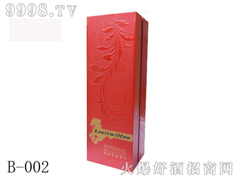 进口红色单支礼盒包装