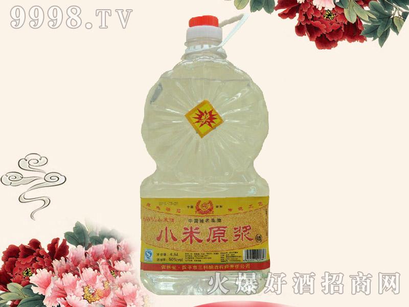 三利小米原浆酒50度4.5L