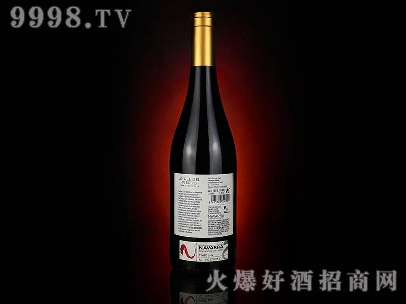 风翼梅洛红葡萄酒(背标)