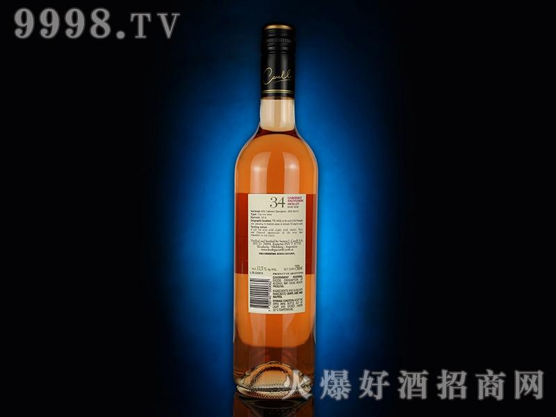 卡雷利桃红葡萄酒(背标)