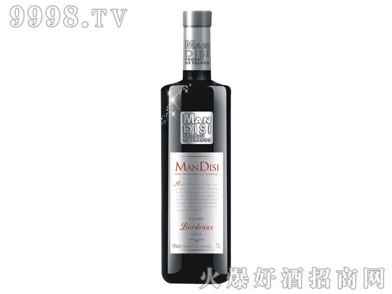 法国进口曼蒂斯经典红葡萄酒