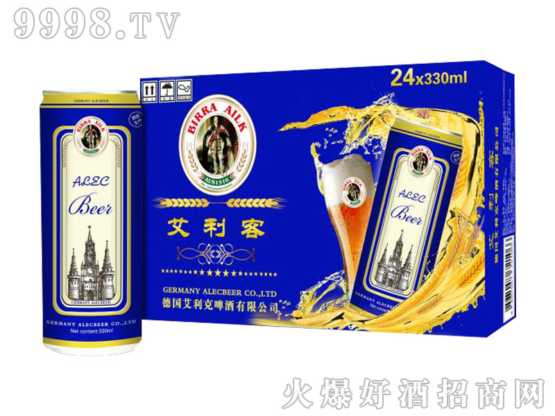 艾利客精酿啤酒330mlx24