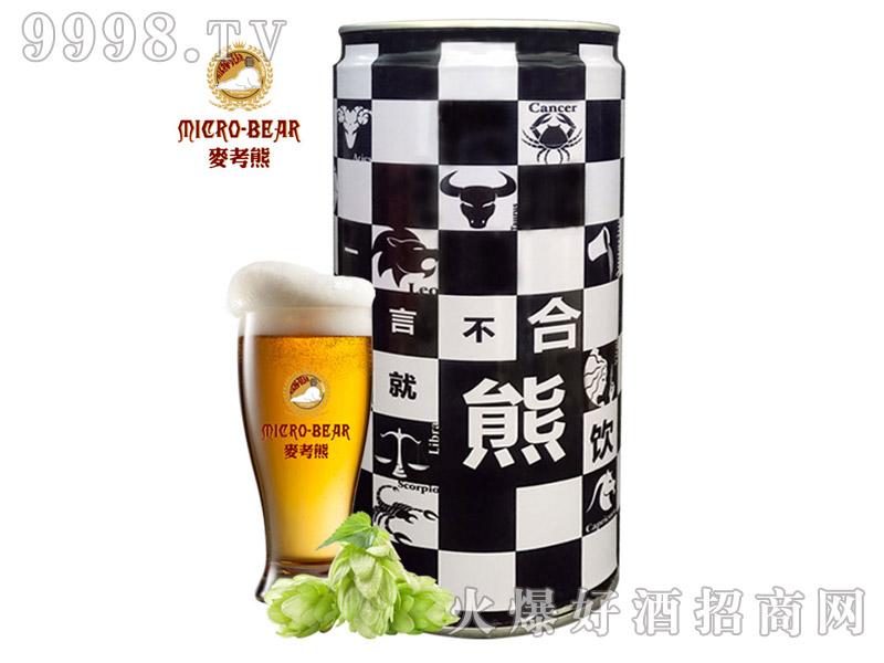 麦考熊精酿原浆白啤1L