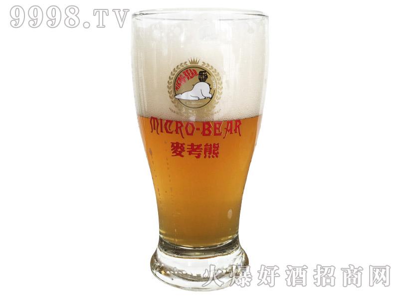 麦考熊精酿原浆啤酒啤体颜色