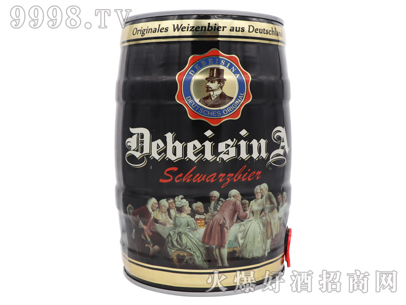 德贝斯那黑啤5L