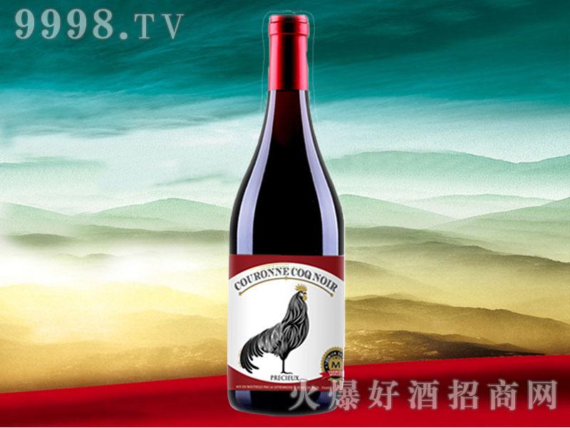 皇冠黑公鸡珍酿干红葡萄酒