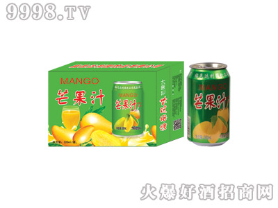 达利园芒果汁果味型饮料(绿箱)