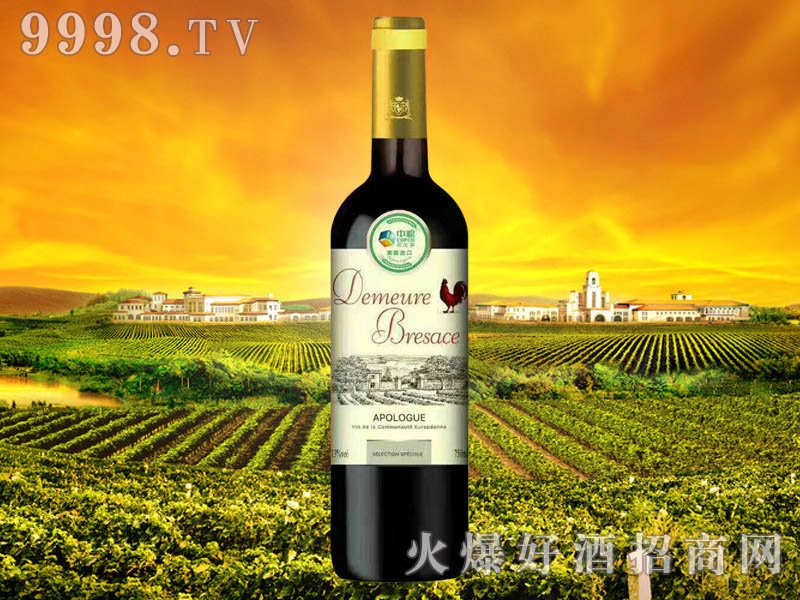 中粮名庄荟布雷萨斯古堡・传奇干红葡萄酒