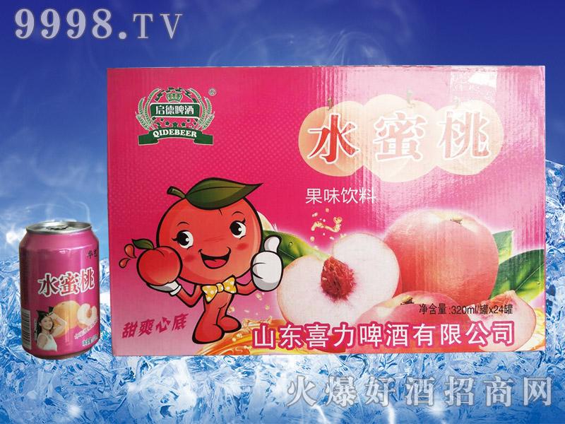 启德水蜜桃果味饮料320ml×24罐
