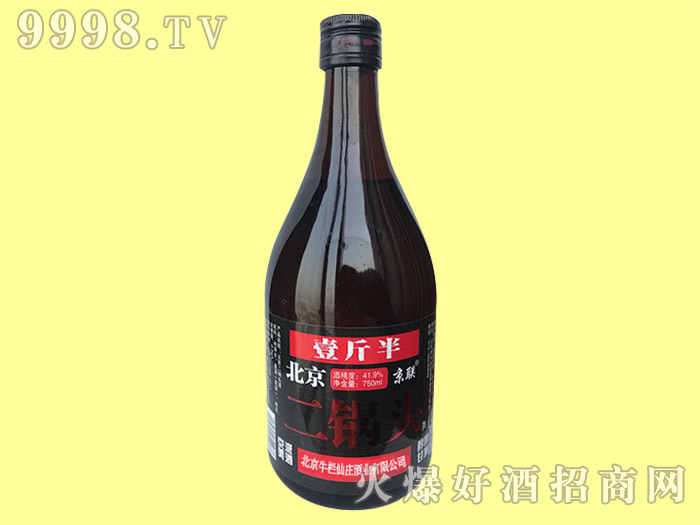 北京京联二锅头酒750ml(黑)
