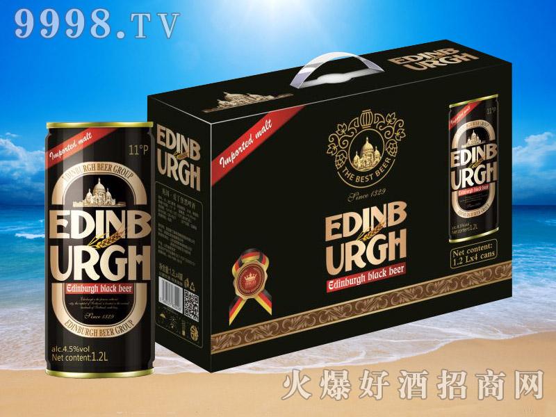 英国爱丁堡黑啤11°1.2L×4