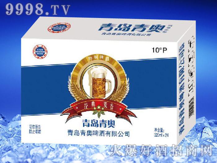 滨海情经典麦香啤酒(白蓝)
