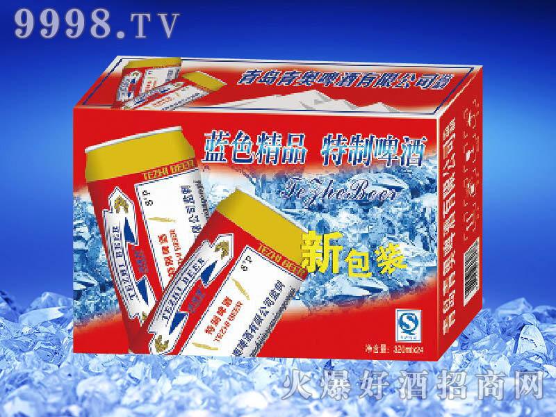 滨海情蓝色精品特制啤酒(红箱)