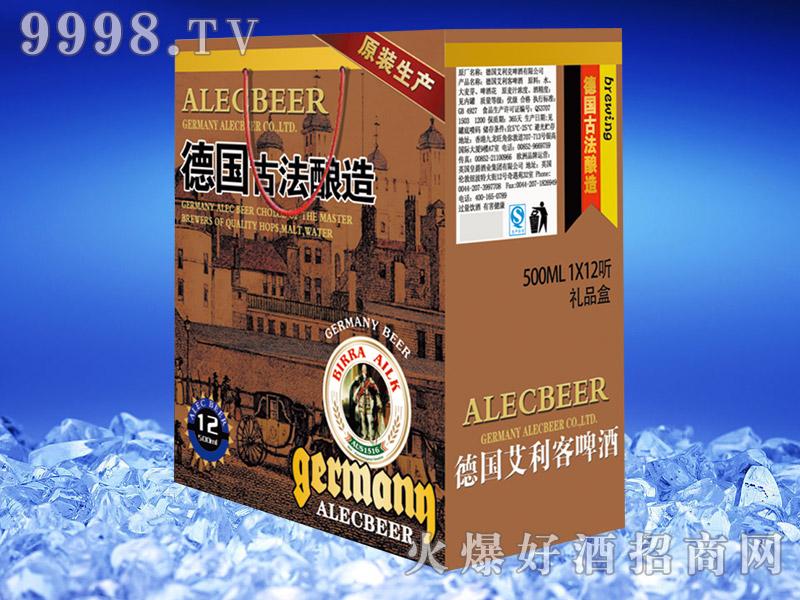 德国艾利客黑啤酒500ml礼盒