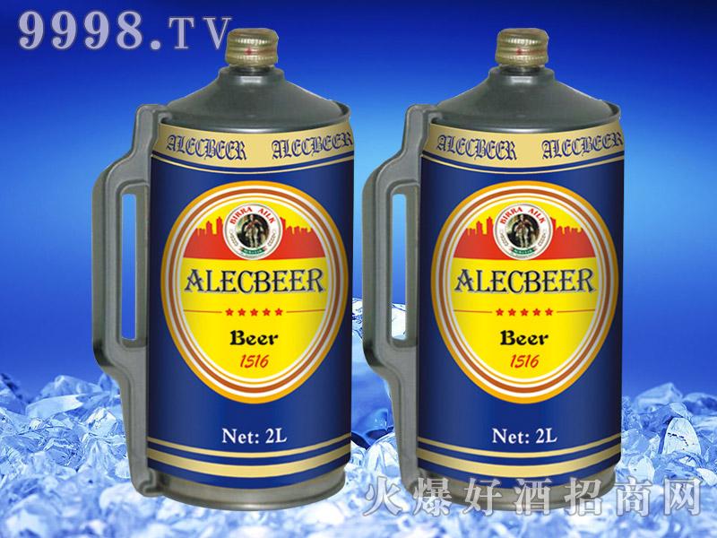 德国艾利客黄啤酒2L桶