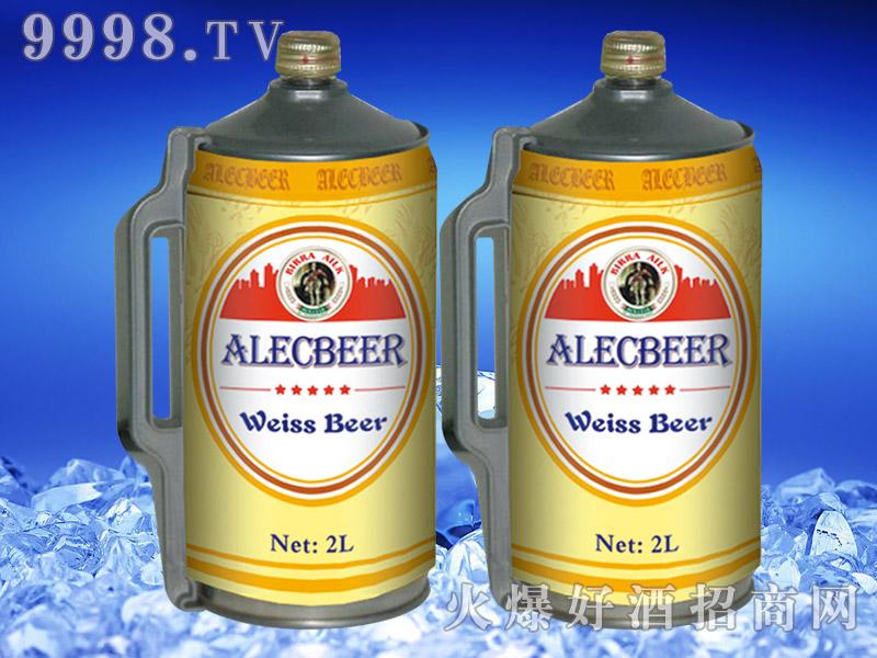 德国艾利客白啤酒2L桶