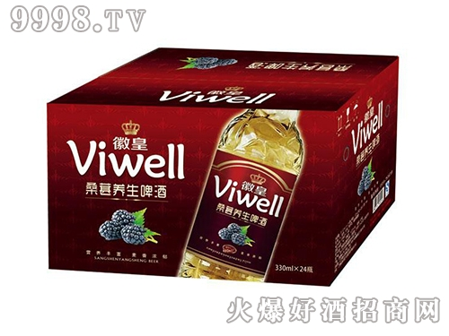徽皇桑葚养生啤酒箱装330mLx24瓶