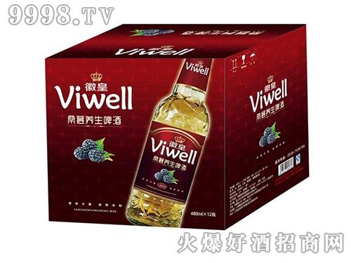 徽皇桑葚养生啤酒 箱装480mLx12瓶