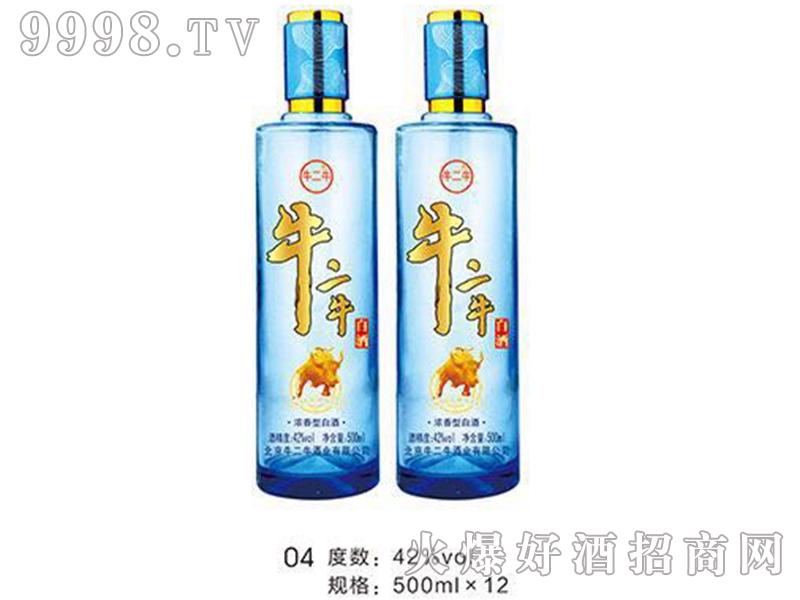 牛二牛陈酿老酒42°480ml(蓝瓶)